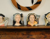 The Six Wives of Henry VIII and Henry Too/Vintage 1950s 1960s/Royal Doulton Character Toby Jugs/Set of Seven