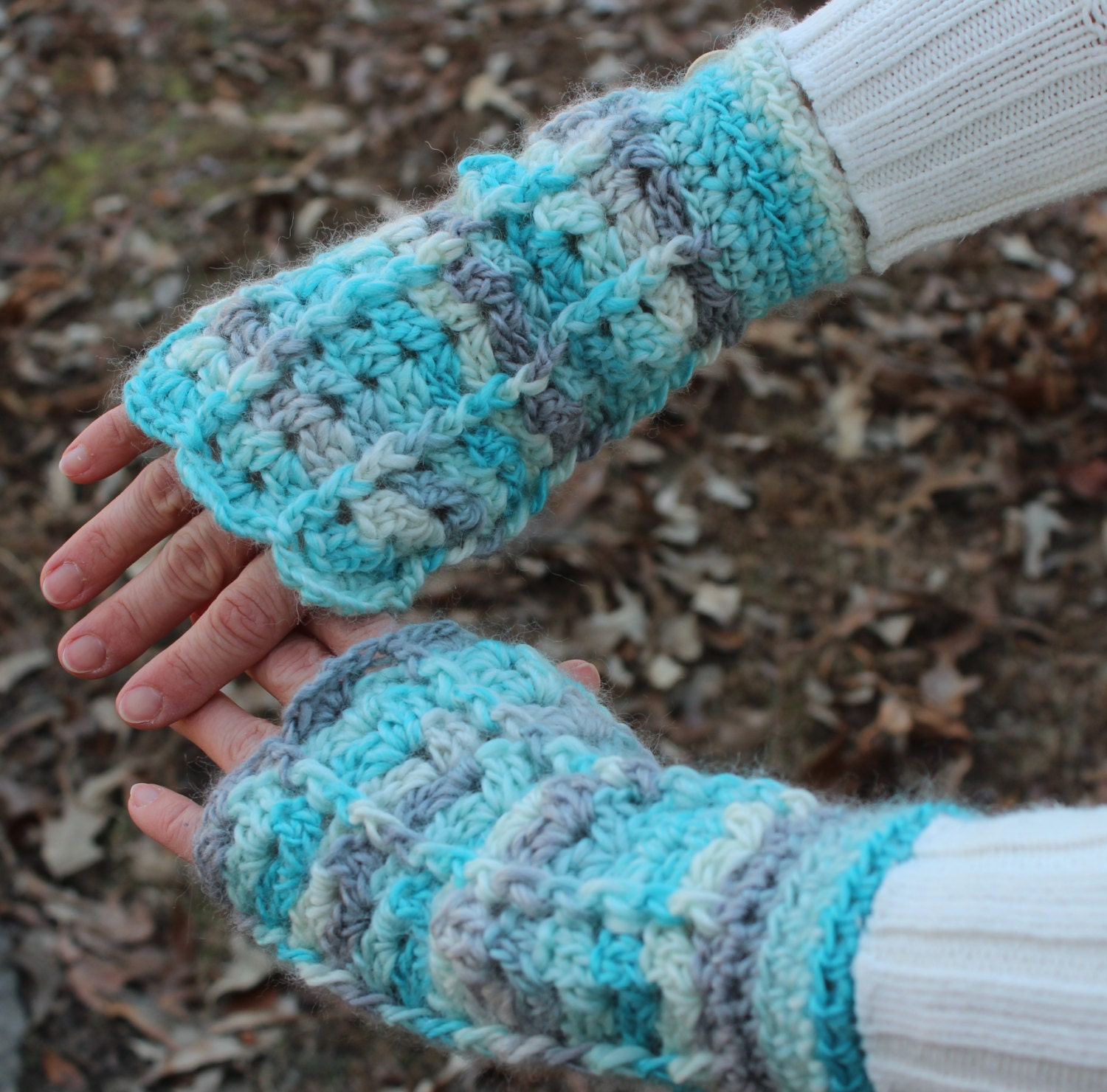 Crochet PATTERN Fingerless Gloves Texting Gloves Crochet