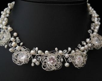 Silver Necklce Nest - Sterling Silver