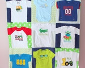 Baby T Shirt Blanket - Custom Baby Clothes Quilt - Memory Blanket - Memory Quilt - Baby Blanket