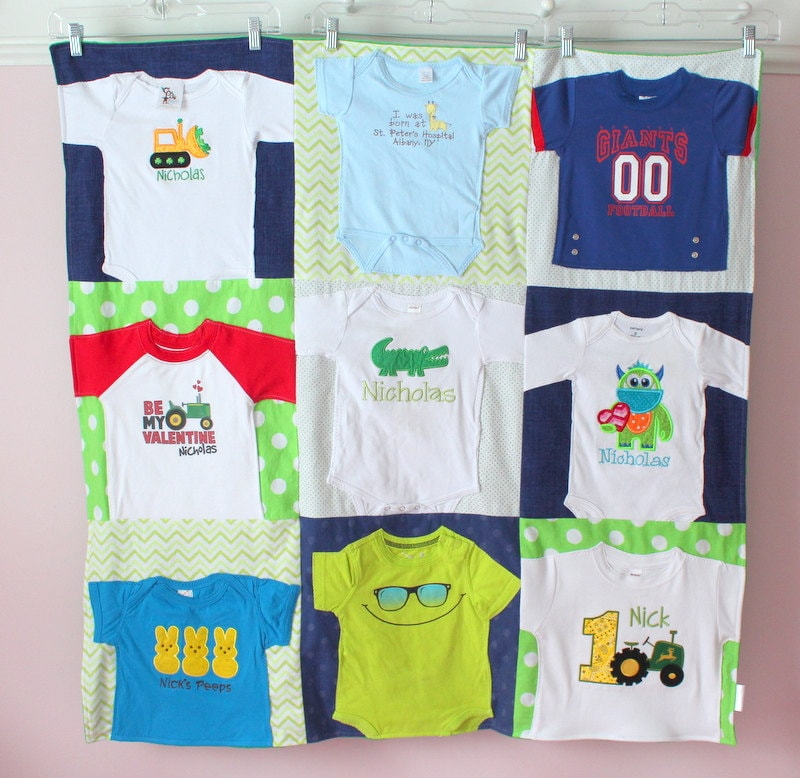 Baby T Shirt Blanket Custom Baby Clothes Quilt Memory