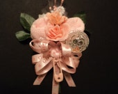 It's A Girl Baby Sock Rose Rattle Corsage Baby Shower Gift