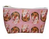 DAVID BOWIE makeup bag lil' purse... 2 sizes... original drawing