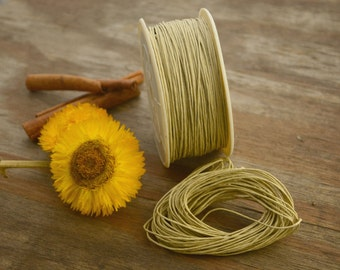 Wheat: Braided, Cotton Cord 1mm, 25ft (8.33 yards)/Natural, Neutral thread / Perfect for Shamballa, DIY Supplies, Cotton Twine, Supplies