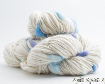 Clouds, Handspun Handpainted Merino Yarn, 50 yards, art yarn, accent yarn