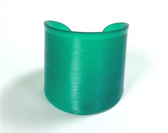 Green Colored Vinyl Record Album Wrist Cuff Size Medium Fun Accessory