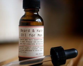 Organic Beard and Hair Oil for Men