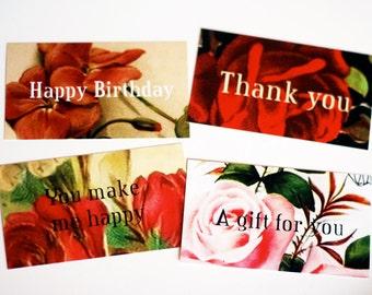 floral gift enclosure card set