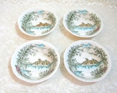 """Alfred Meakin English Staffordshire Queens Castle 5"""" Bowls"""