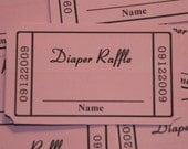 Diaper Raffle Ticket, Baby Shower Raffle, Baby Shower Door Prize Ticket ,  Quantity 30