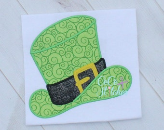 Leprechaun Hat St. Patricks Day Embroidery Applique Design
