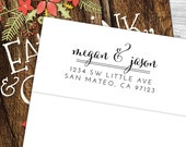 Custom modern calligraphy return address stamp--153TS or 153SI