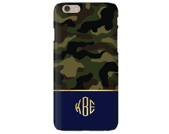 Monogrammed iPhone 6s / iPhone 6 Case - CAMO Collection, choice of color