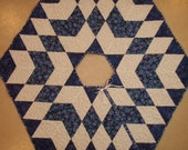Quilted Christmas Tree Skirt Handmade Quiltsy Idaho Blue White