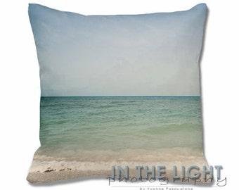 Seascape - Treasure Island FL - Fine Art Photography Pillow for home decor