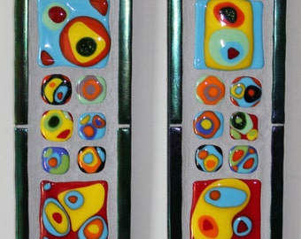 Mosaic, Stained Glass, Fused Glass, Panel, Kandinsky, Bright, Colorful, Abstract
