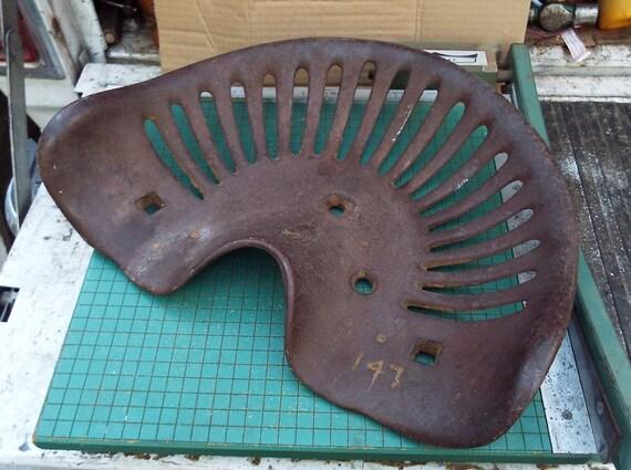 Antique Iron Tractor Seats : Antique cast iron tractor seat primitive farm by