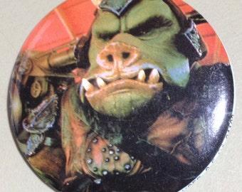 1983 Return of the Jedi Gamorrean Pin back Button by Adam Joseph
