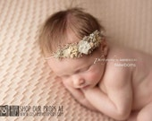 RTS Newborn Organic Photo Prop Girl Tie Back Headband, Simplicity Organic Newborn Baby Headbands, Baby Girl, Photography Props, Hemp, Brown