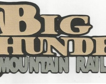 DISNEY Big Thunder Mountain Railroad Die Cut Tie - for Scrapbook Pages - SSFF