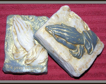 PRAYING HANDS Soap - Beautiful Religious Themed Art Soap - Highly Detailed Unique Gift Soap - Home Decor - Wedding Gift - Handmade Soap USA