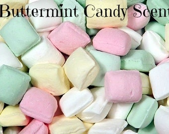 BUTTERMINT CANDY Scented Soy Wax Melts - Flameless Wickless Soy Candle Tart  - Highly Scented - Handmade In USA
