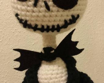 Custom Amigurumi Pumpkin King Jack doll