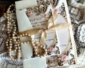 CUSTOM ORDER Deposit for Carolina Rodriguez...Romantic Vintage Wedding Invitation Suite SAMPLE by avintageobsession on etsy