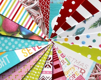 DESTASH - Recollections: Merry & Bright - Pack of 18 Different Scrapbook Papers, 6 inch X 6 inch