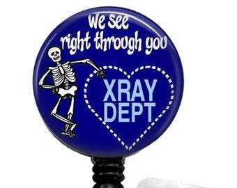 X Ray Retractable ID Badge Reel, ID Badge Holder, Xray Tech ID Badge Reel, Name Badge Holder, Name Tag Holder,Id Card Holder, Badge Holder