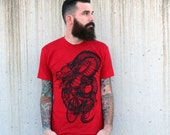 Dragon on a bicycle t-shirt - American Apparel Mens Tee