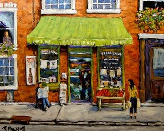 Daily Life Street Montreal original oil painting created by Prankearts