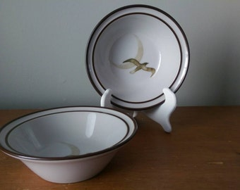 Vintage Noritake Seagull and Moon bowls - Set of 2