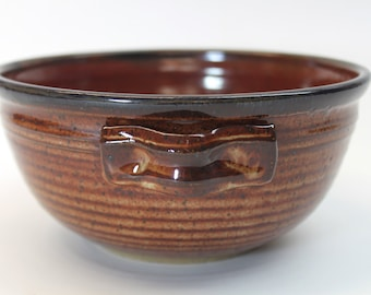 The Best Ceramic Bowl - Side Dish Bowl - Serving Bowl- Utility Bowl Red and Brown In Stock Ready to Ship