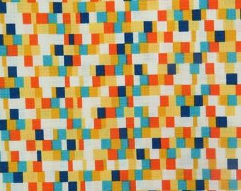 2515B - Mosaic Fabric in Yellow and Orange Combo