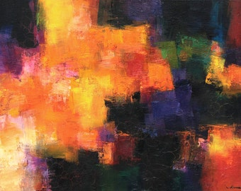 October 2014 - 2 - Original Abstract Oil Painting - 60.6 cm x 41.0 cm  (app. 24 inch x 16 inch)