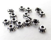 TierraCast Antiqued Silver Ox Bead Cap Tiny Scalloped 4mm bcp0063 (15)