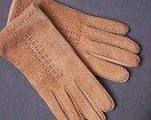 reserved // leather & suede small women's lined winter gloves