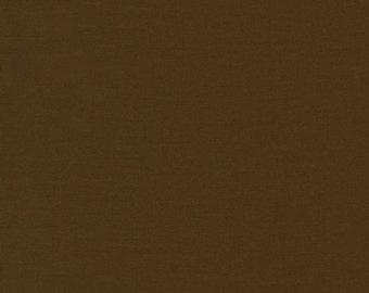 1 Yard - Chestnut Kona Cotton Solid color 407 by Robert Kaufman
