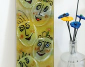 Fused glass Painted Faces - Glass fusing art