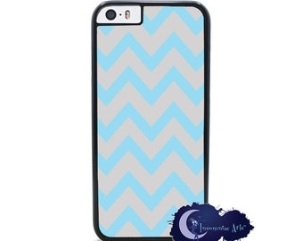 Blue and Gray Chevron - iPhone Cover, Case