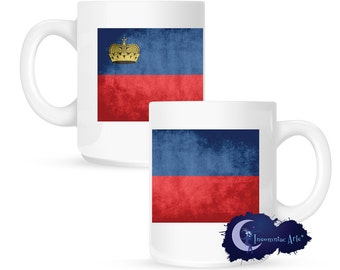 Flag of Liechtenstein 15 oz Coffee Mug