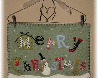 Merry Christmas! Snowman Penny Rug/Wall Hanging DIGITAL PATTERN