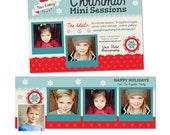 Holiday Christmas Mini Session and Facebook Timeline Template Set - INSTANT DOWNLOAD