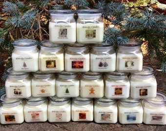 CHRISTMAS COLLECTION - One 10-oz Soy Jar Candle (15% discount)