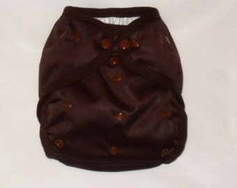 Brown PUL Diaper Cover