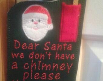 Magic Key for Santa Door Hanger..  Free Personalization