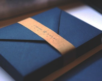 Navy A7 Envelopes 25/Pk