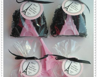 20 Eiffel Tower Soap Party Shower Favors (Tags Included)