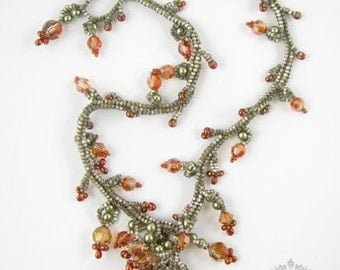Ochre Necklace - Beading Pattern/Tutorial Downloadable PDF